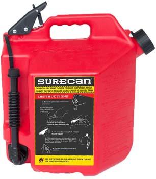 5. Surecan CRSUR5G1 Gasoline CAN, 5.0 Gallon, Red