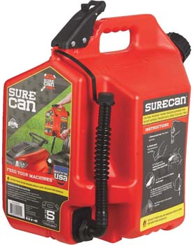 4. SureCan - Gas Can with Rotating Spout - 5.0 Gallon (SUR50G1)