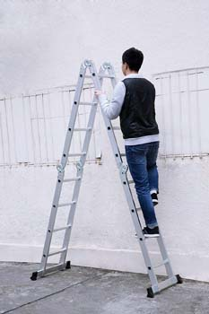 5. Finether 15.4ft Telescoping Ladder Multi-Purpose Aluminum Extension Ladder