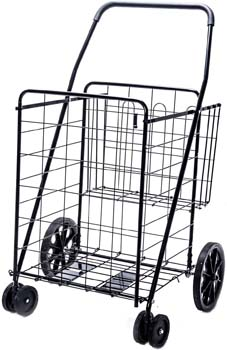 6. LS Jumbo Deluxe Folding Shopping Cart