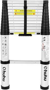 6. Ohuhu 12.5 FT Aluminum Telescopic Extension Ladder