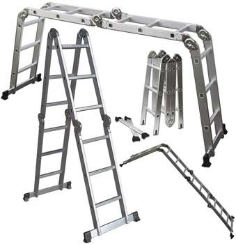 4. OxGord Dual Height Aluminum Folding Ladder