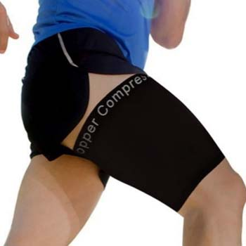 3. Copper Compression Recovery Thigh Sleeve