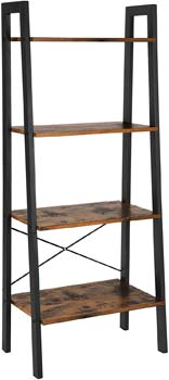 2. VASAGLE Industrial Ladder Shelf