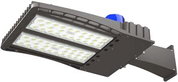 4. AntLux 150W LED Parking Lot Lights Shoebox Pole Light