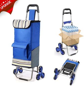 8. ROYI 2019 Upgraded Folding Shopping Cart Stair Climbing Cart
