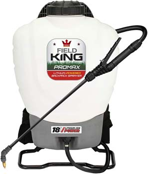 9. Field King 190515 Professionals Battery Powered Backpack Sprayer, 4 gal