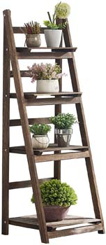 1. Rose Home Fashion Foldable Ladder Shelf