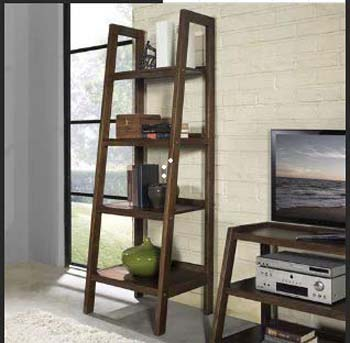 9. Homfa Ladder Shelf 4 Tier Vintage Bookshelf Bookcase Multifunctional Plant Flower Stand Storage Shelves
