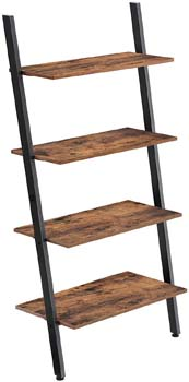 8. VASAGLE Industrial Ladder Shelf, 4-Tier Bookshelf, Storage Rack Shelves
