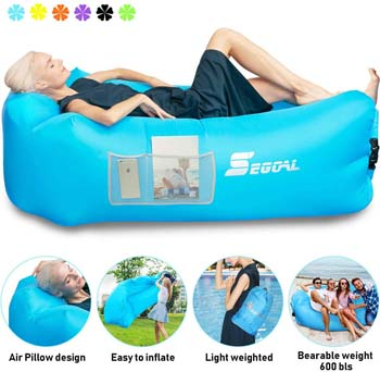 3. SEGOAL Inflatable Lounger Air Sofa Pouch Inflatable Couch