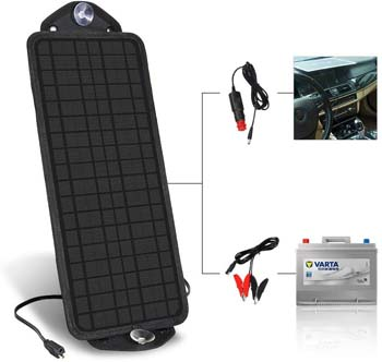 8. MOOLSUN 12 Volt 12v Solar Battery Charger