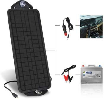 8. MOOLSUN 12 Volt 12v Solar Battery Charger