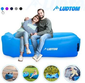 10. ludtom Inflatable Lounger Air Sofa Hammock