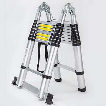 3. Bowoshen 16.5ft Aluminum Telescoping Extension Ladder