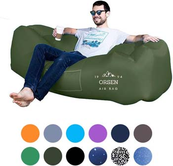 7. ORSEN Inflatable Lounger Portable Hammock Air Sofa