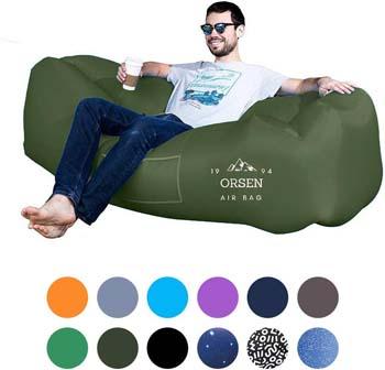 7. ORSEN Inflatable Lounger Portable Hammock Air Sofa