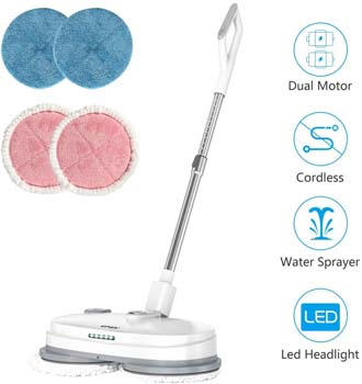 7. vmai Electric Mop, Cordless Electric Spin Mop, Hardwood Floor Cleaner