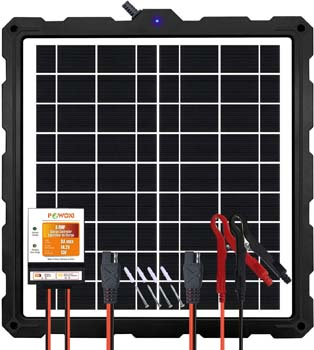 7. POWOXI-Upgraded-20W-Solar-Battery-Charger-Maintainer