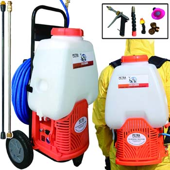 8. Petra Powered Backpack Sprayer with Custom Fitted Cart
