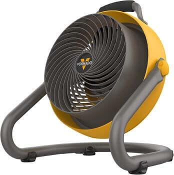 8. Vornado 293 Large Heavy Duty Air Circulator Shop Fan, Yellow