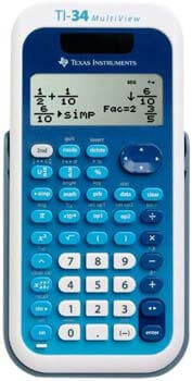 5. Texas Instruments (34MV/TBL/1L1) TI-34 MultiView Scientific Calculator