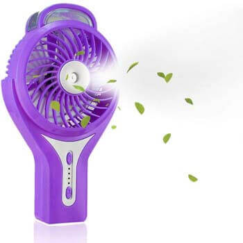 6. TianNorth Misting Fan Mini USB Handheld Humidifier Mist Water Spray Air Conditioning Moisturizing Fan