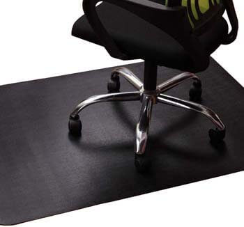 5. Office Chair Mat for Hardwood and Tile Floor, Black, Anti-Slip, Non-Curve, Under the Desk Mat