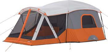 6. CORE 11 Person Family Cabin Tent with Screen Room