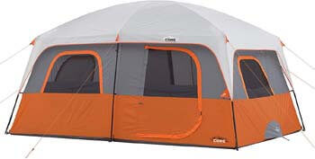 2. CORE 10 Person Straight Wall Cabin Tent