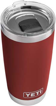 4. YETI Rambler 20 oz. Tumbler, Stainless Steel, Vacuum Insulated with MagSlider Lid