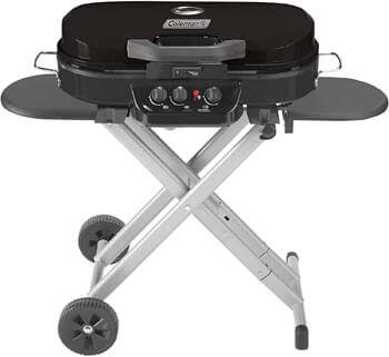 1. Coleman RoadTrip 285 Portable Stand-Up Propane Grill