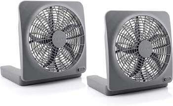 9. O2COOL Treva 10 Inch Portable Desktop Air Circulation Battery Powered Fan