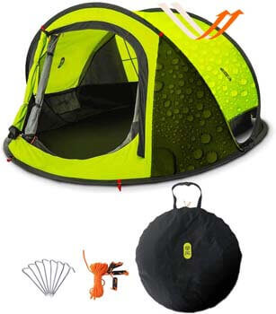 2. Zenph Pop up Tent, Automatic 2-3 Persons Family Camping Tent