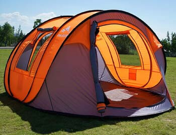 "7. Oileus Pop up Tents Camping 4 to 6 Person Tent Sky-Window (45""x 25"") Instant Camping Tent"
