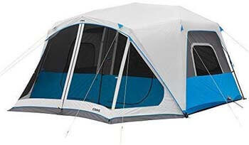 5. Core Lighted 10 Person Instant Cabin Tent with Screen Room