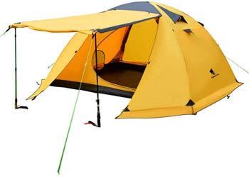 8. GEERTOP Portable 4 Person 4 Seasons Backpacking Tent