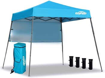 5. EzyFast Ultra-Compact Backpack Canopy, Pop up Shelter, Portable Sports Cabana