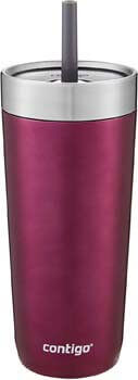7. Contigo Luxe Stainless Steel Tumbler with Spill-Proof Lid and Straw