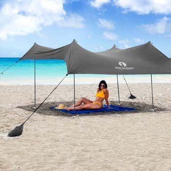 10. Red Suricata Family Beach Sunshade - Sun Shade Canopy