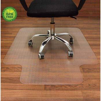 2. AiBOB Office Chair mat for Hardwood Floor, 36 x 48 inches, Easy Glide for Chairs