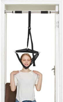 4. Soulern Cervical Traction Device for Neck Pain Relief Head/Shoulder over Door Frame
