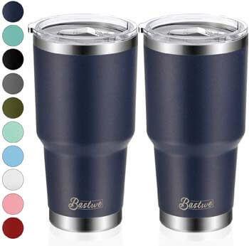 3. Bastwe 2 Pack 30oz Vacuum Insulated Tumblers