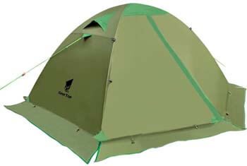 6. GEERTOP Backpacking Tent for 2 Person 4 Season Camping Tent Double Layer Waterproof