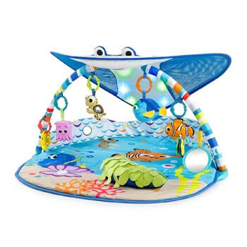 6. Bright Starts Disney Baby Finding Nemo Ray Ocean Lights & Music Gym, Ages Newborn