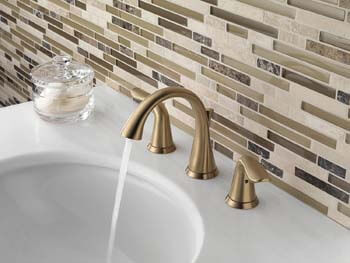 2. Delta Faucet Lahara 2-Handle Widespread Bathroom Faucet