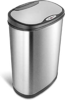 4. Ninestars DZT-50-13 Automatic Touchless Motion Sensor Oval Trash Can