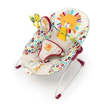 4. Bright Starts Playful Pinwheels Bouncer with Vibrating Seat
