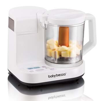 2. Baby Brezza Glass Baby Food Maker – Cooker and Blender