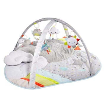 5. Skip Hop Silver Lining Cloud Baby Play Mat and Infant Activity Gym, Multi-Color Celestial Theme